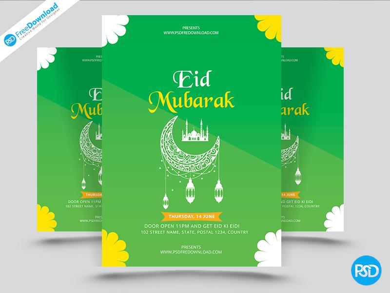 Eid Mubarak Flyer Design Psd By Psd Free Download On Dribbble