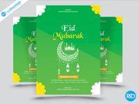 Eid Mubarak Flyer Design Psd