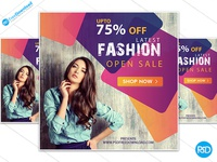 Free Fashion  Clothes Banner Psd