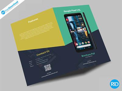 Mobile Fold Brochure Psd foldbrochure free psd printable pixelmobile pixel2 pixel googlemobile smartphone mobile fold googlepixel