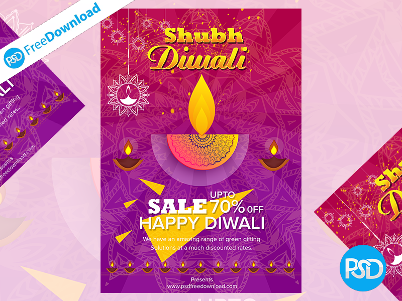 creative diwali flyer design by psd free download dribbble dribbble
