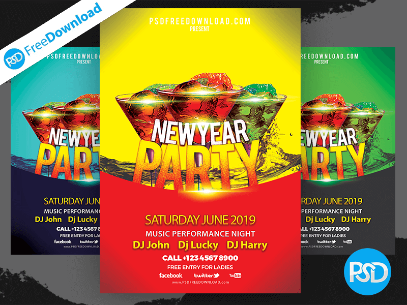 Music Night Party Flyer Design Psd by Psd Free Download on