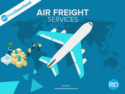 Air Freight Creative Banner PSD