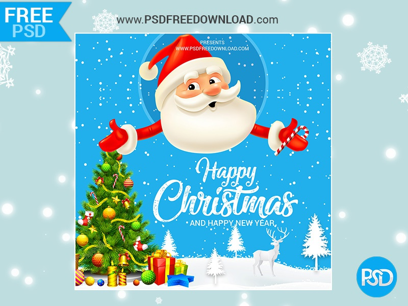 Happy Christmas Greeting Mockup Psd by Psd Free Download on