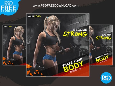 Fitness Banner Design Psd
