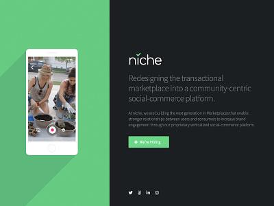 niche Splash Page