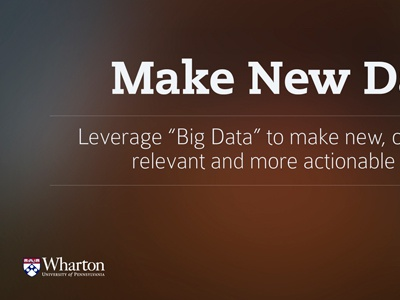 Make New Data