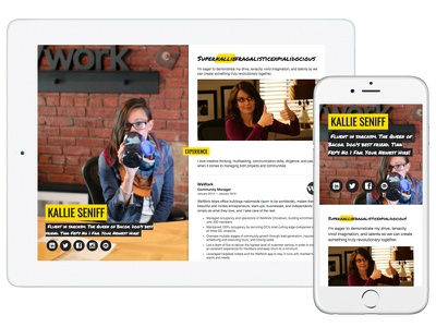 Resume One-Pager Design linkedin responsive simple portfolio one pager resume