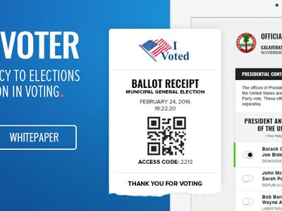 Ballot Receipt tablet paper whitepaper ballot election vote democracy receipt voting