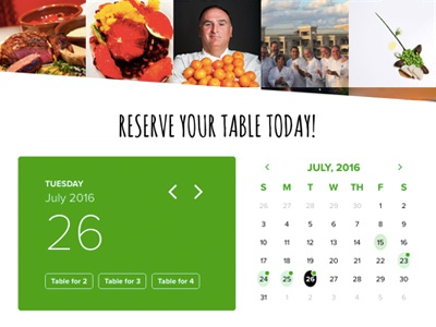 Ticketing Calendar rsvp reservation restaurant event calendar ux ui