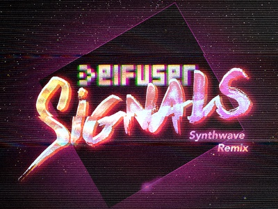Deifuser - Signals cover art synthwave retro music cover art 80s
