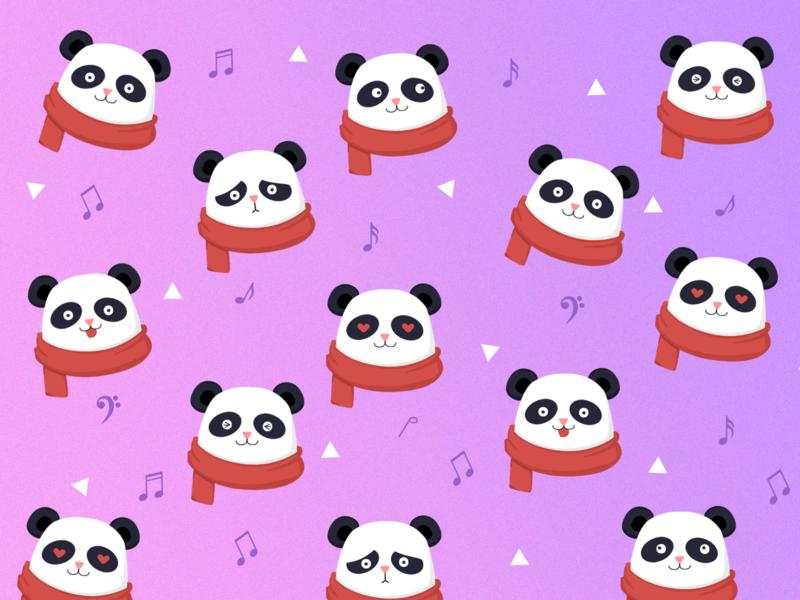 Panda from Friends' Family. panda illustration