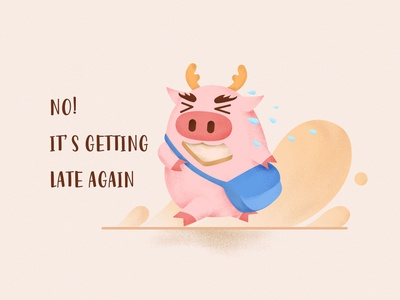 Dragon Pig Being Late