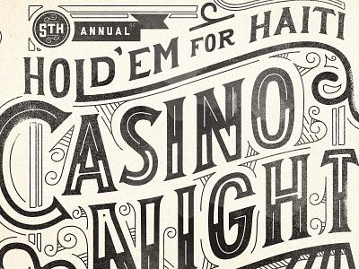 Holdem For Haiti Repurposed Artwork haiti holdem poker casino night lettering handlettering