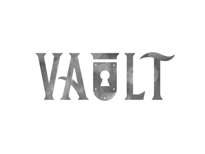 Vault Identity WIP vault logo lock key branding identity lettering
