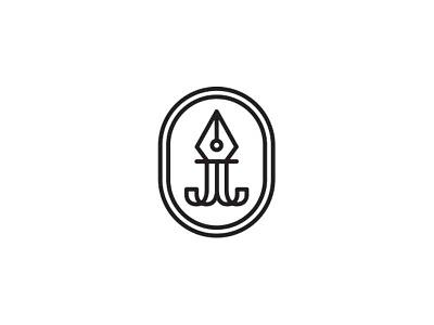 JJ Writer's Guild Logo WIP guild branding initials j pen logo writer