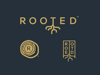 Rejected | Rooted Logo Concepts mark design tree log r rooted branding logo roots