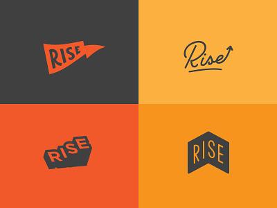 ! REJECTED ! | Rise Logo Concepts mark retro branding logo rise