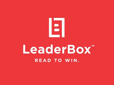 LeaderBox monogram books read design branding b l lb subscription box leader logo
