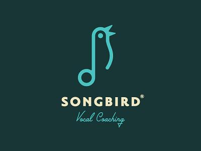 Songbird | Logo Design voice singer singing sing vocal logo bird song songbird