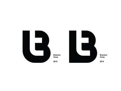 Left or Right? Please comment! icon brandon logo mark branding monogram t b bt