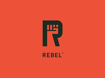 Rebel Logo Concept branding mark r rebellion fist hand rebel