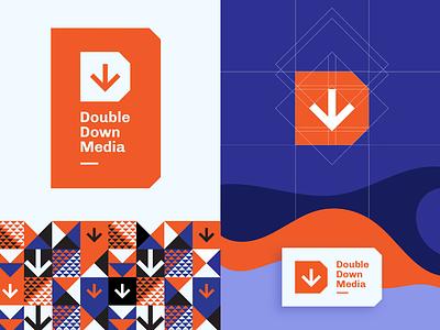 Double Down Media   Logo Concept dd mark logo media arrow down d double