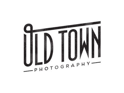 Old Town Photography Logo photography old logo branding town vintage art deco 1930s retro hollywood classic