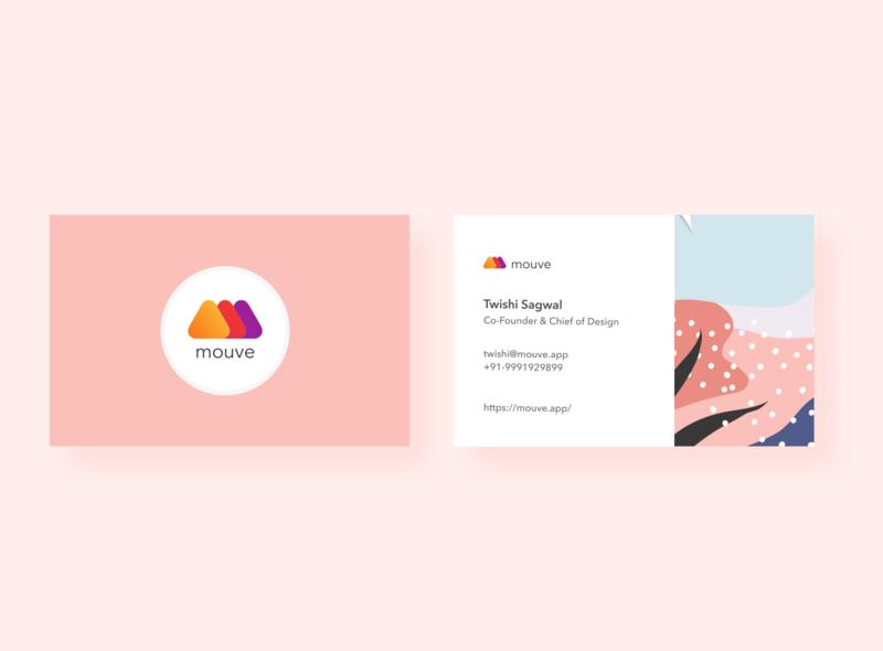 Mouve Business card business mouve branding illustraion ui