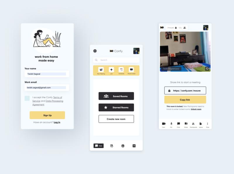 Video Conference App UI Concept design app design ui