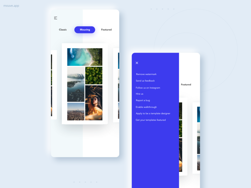 Old UI of Mouve App app design design ui