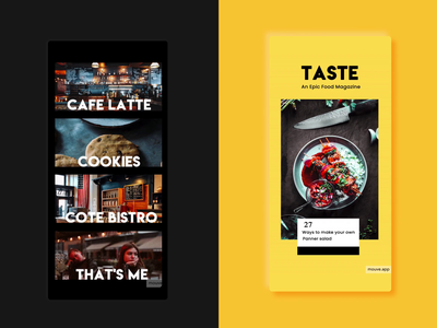 Food Templates @mouve.app illustration branding design ui