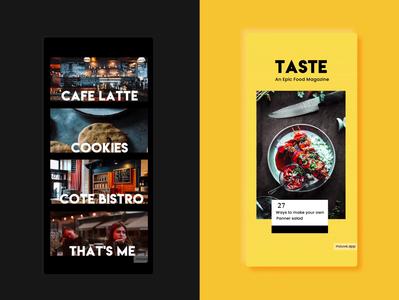 Food Templates @mouve.app illustration branding design ui