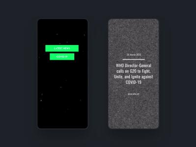 Covid News Templates @mouve.app branding design ui