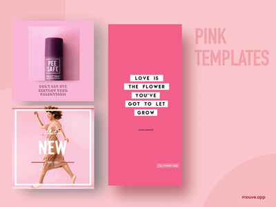 Cause pink is the new kinda lingo. instagram template instagram pink design branding ui