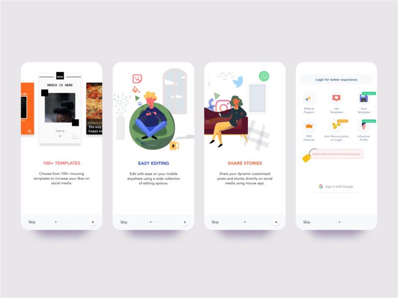 Onboarding ux illustration app design design ui