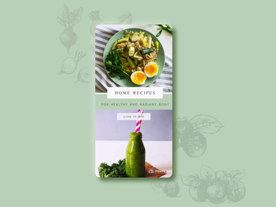Healthy Home Recipes Instagra, Template @mouve branding instagram template instagram illustraion ui