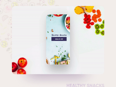 Healthy Snacks Instagram Template @mouve business design branding illustration instagram template instagram ui