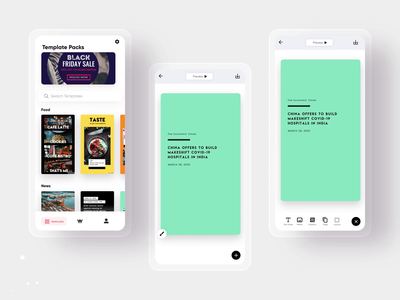Mouve - Showcase your story ux design instagram template app design branding ui