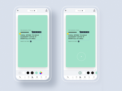 Color edit option @mouve app design ux design ui