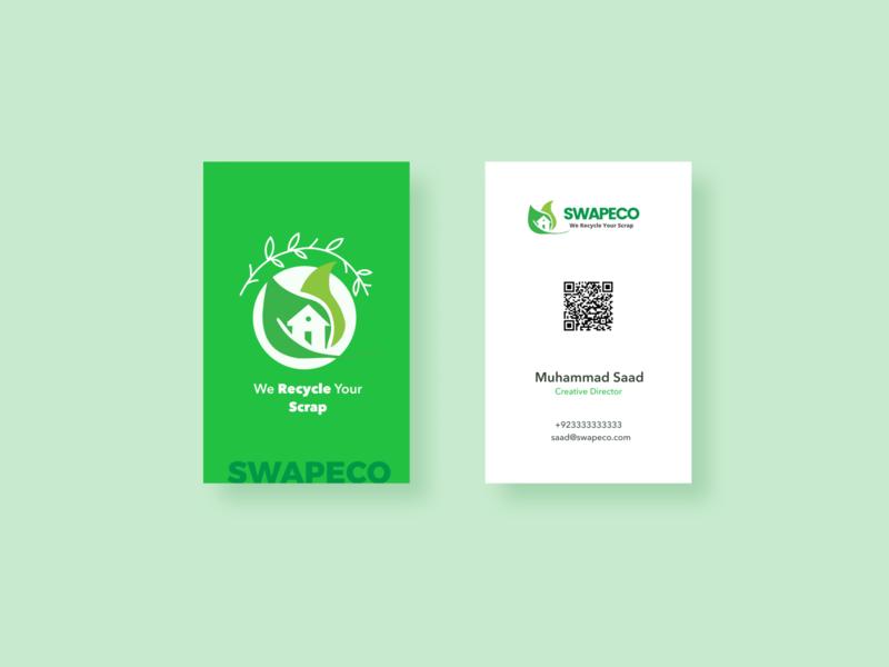 Swapeco business card branding business card design ui
