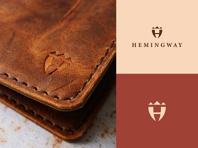 Hemingway modern icon symbol nature brand kraft handmade mode ui logo branding graphic design fashion wallet leather hemingway
