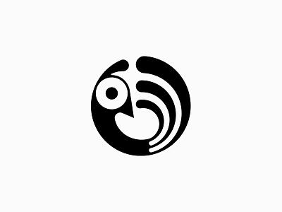 Bird graphic design clever modern circle fly sky bird branding illustration minimal nature line icon design logo symbol