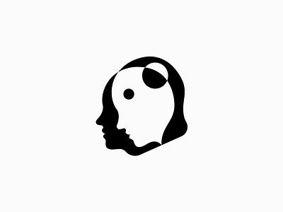 Unrest negative icon symbol logo brain eye head life state human face mental disorder unrest