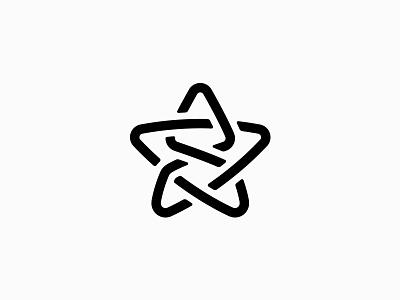 Star & Rocket icon symbol logo planet astronaut sky line launch cosmos universe star rocket
