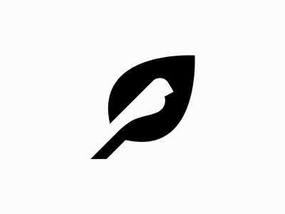 Bird negative space tree icon symbol logo fly sky nature leaf