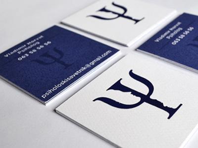 Business Card psi psi logo business card psychologist uv logo stationary identity violet logo