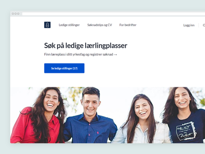 Jobboard in norway branding business design interface ux ui minimal webdesign website jobboard