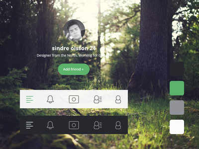 FREE UI PSD free ui psd nature icon icons profile flat ios app