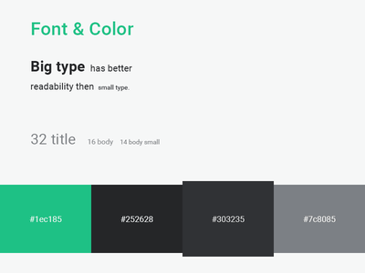 Personal work desk updated green light dark type color font